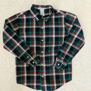 Janie and Jack boy's shirt. Plaid. Size 6.